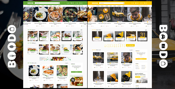 Boodo WP - Food and Magazine Shop WordPress Theme