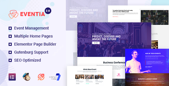 Eventia - Responsive Event WordPress Theme