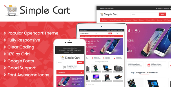 Simple Cart Responsive OpenCart