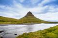 Beautiful Kirkjufell mountain with cloudy, Snaefellsnes peninsula, Iceland - PhotoDune Item for Sale