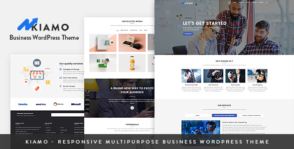 Kiamo - Responsive Business Service WordPress Theme