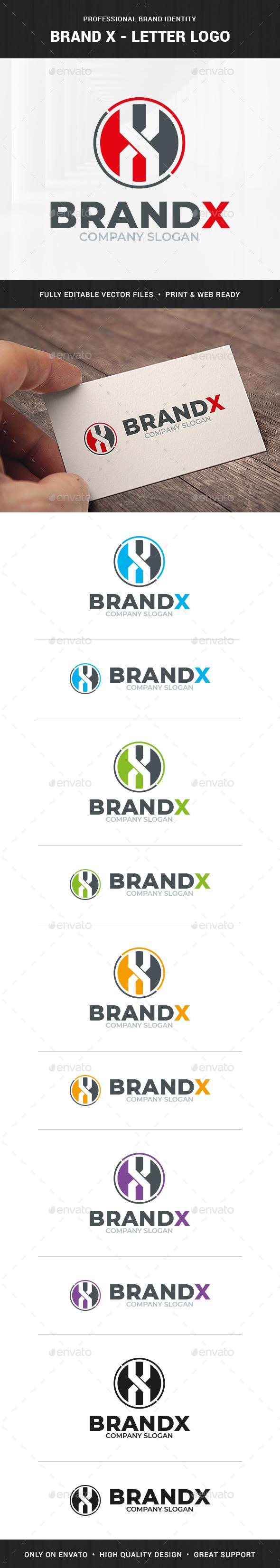 Brand X - Letter Logo Template
