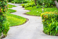 Walk or running path in the garden - PhotoDune Item for Sale