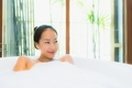 Portrait beautiful young asian woman in the bathtub for take a b - PhotoDune Item for Sale