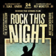 Rock This Night Flyer - GraphicRiver Item for Sale