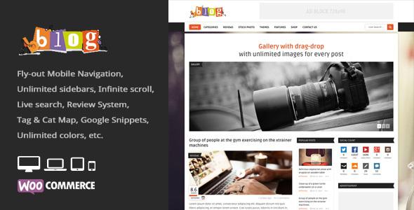 Bblog - Blog / Magazine WordPress Theme