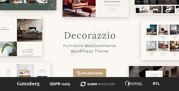 Decorazzio - Interior Design and Furniture Store WordPress Theme