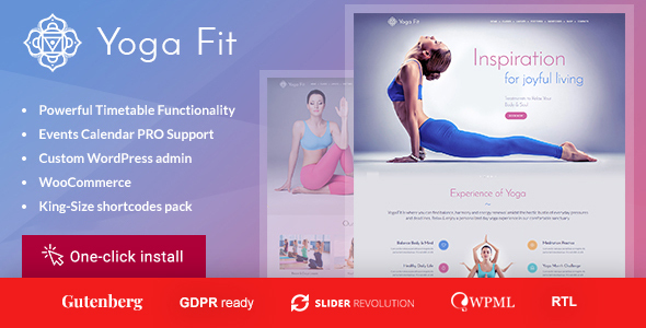 Yoga Fit - Sports & Fitness WordPress Theme