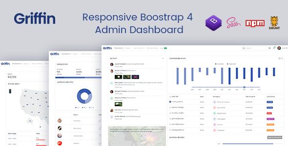 Griffin - Clean Developer-friendly Bootstrap 4 Admin Dashboard & UI Kit