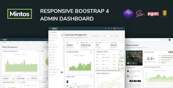 Mintos - Responsive Bootstrap 4 Admin Dashboard Template