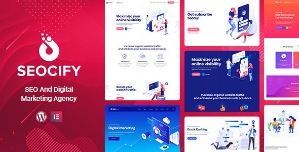 Seocify - SEO Digital Marketing Agency WordPress Theme