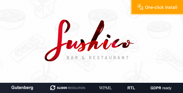 Sushico - Sushi and Asian Food Restaurant WordPress Theme