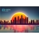 Vector Sunset City Skyline with Modern Buildings - GraphicRiver Item for Sale