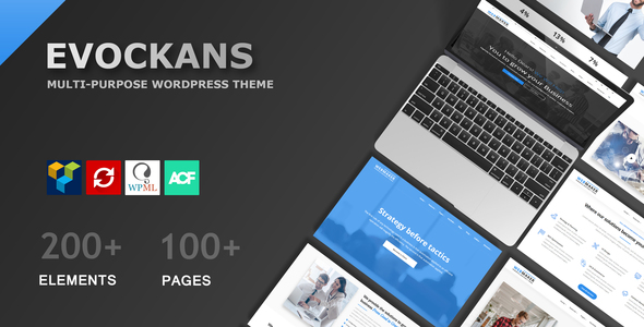 Evockans - Responsive Multi-Purpose WordPress Theme