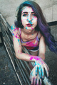 Young woman with paint in her skin - PhotoDune Item for Sale
