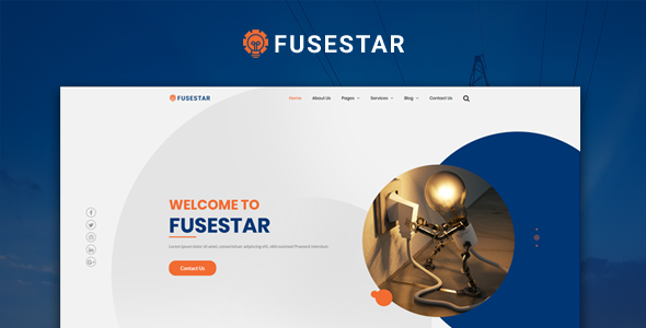 Fusestar Responsive HTML5 Electrical Template