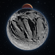 Panorama of Phobos with the red planet Mars in the background - 3DOcean Item for Sale