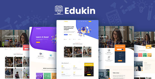 Edukin - Education PSD Template