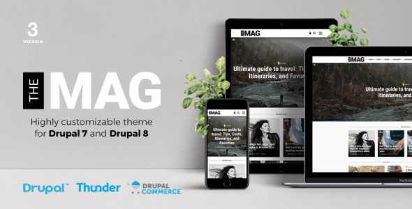 TheMAG - Highly Customizable Blog and Magazine Theme for Drupal