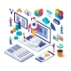 Business Startup Isometric Concept - GraphicRiver Item for Sale