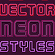 Vector Neon Graphic Styles - GraphicRiver Item for Sale