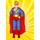 Super Boy in Super Hero Costume - GraphicRiver Item for Sale