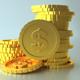 3D Coin Dollar Scene - 3DOcean Item for Sale