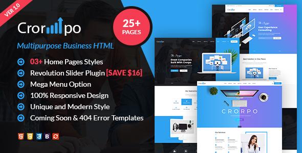 Crorpo | Business  Multi-Purpose HTML5 Template