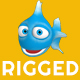 Rigged Cartoon Fish - 3DOcean Item for Sale