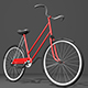 Red Bike - 3DOcean Item for Sale