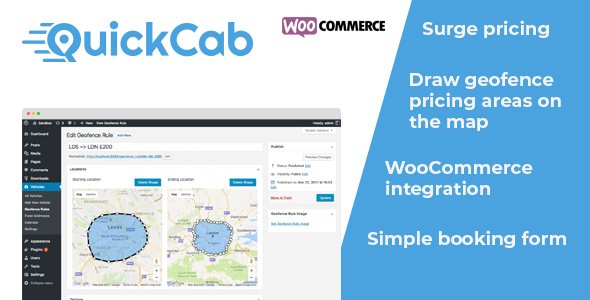 QuickCab: WooCommerce Taxi Booking Plugin