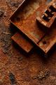 Old broken corroded safe lock - PhotoDune Item for Sale