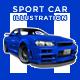 GTR Sport Car Illustration - GraphicRiver Item for Sale