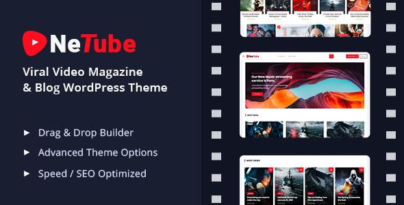 Netube - Viral Video Blog / Magazine WordPress Theme