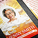 Celebrating Life Funeral Prayer Card Template - GraphicRiver Item for Sale