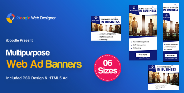 C22 - Multipurpose, Business, Startup Banners GWD & PSD