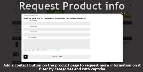 Prestashop Request Info (GDPR Compatible)