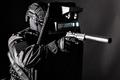Armed SWAT fighter hiding behind ballistic shield - PhotoDune Item for Sale