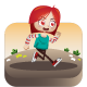 Red Head Girl Sprites - 2D Character Game Asset - GraphicRiver Item for Sale