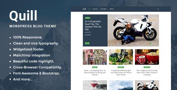 Quill Blog – Responsive Minimal WordPress theme