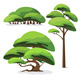 Set of Cartoon Stylized Tree and Bush - GraphicRiver Item for Sale