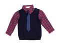 Plaid shirt with a vest and tie, isolate - PhotoDune Item for Sale