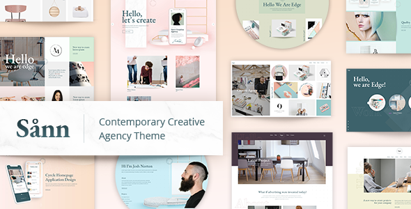 Sånn - Contemporary Creative Agency Theme