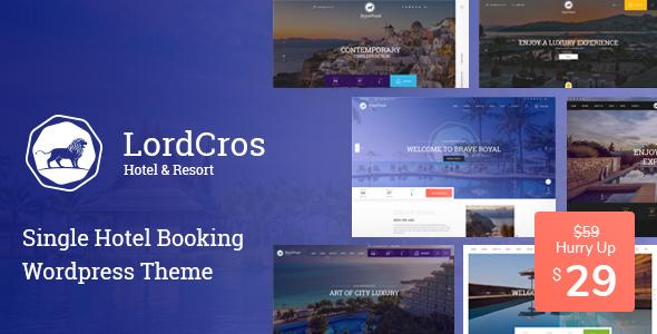 LordCros – Hotel Booking WordPress Theme Free Download