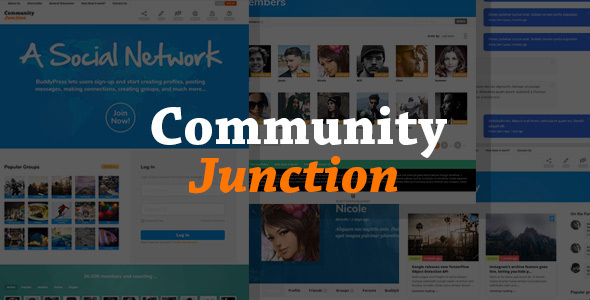 CommunityJunction - BuddyPress Membership Theme