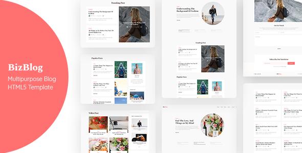 Bizblog | Multipurpose Personal Blog HTML5 Template Free Download