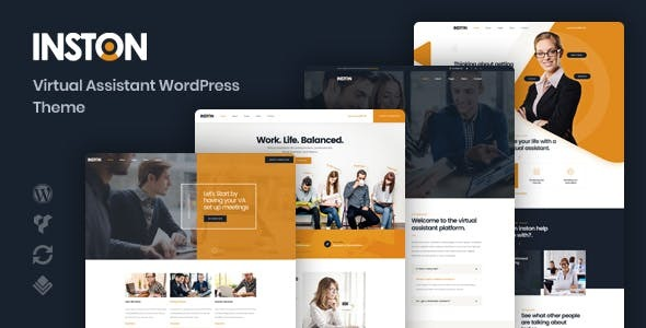 Inston - Virtual Assistant WordPress Theme