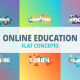 Online Education - Typography Flat Concept - VideoHive Item for Sale