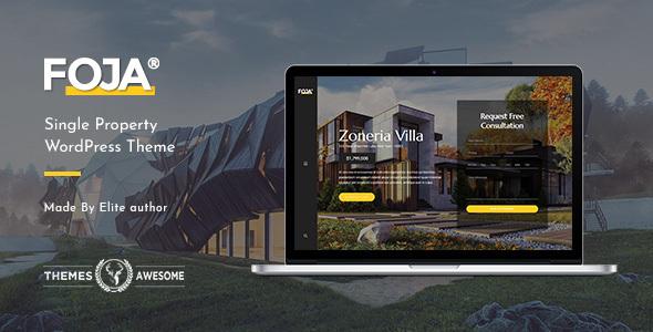 Foja | Single Property WordPress Theme