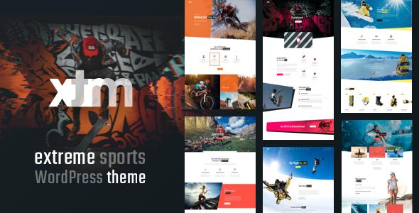 Sports XTRM - Extreme Sports, Snowboarding, Mountain Bike WordPress  Sports